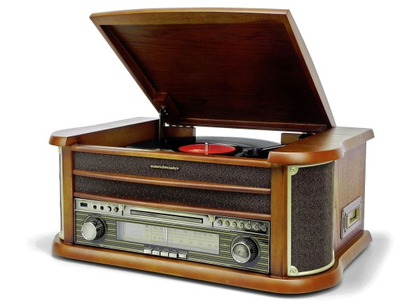 Soundmaster NR540 Nostalgie-Stereoanlage braun