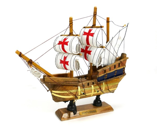 Santa Maria 20cm Holz Modellboot Piratenschiff Schiffsmodell