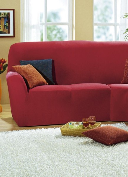 Sofabezug Rot 2-Sitzer