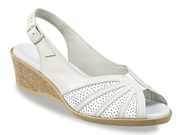 Damen Sandalette Beige Gr. 40