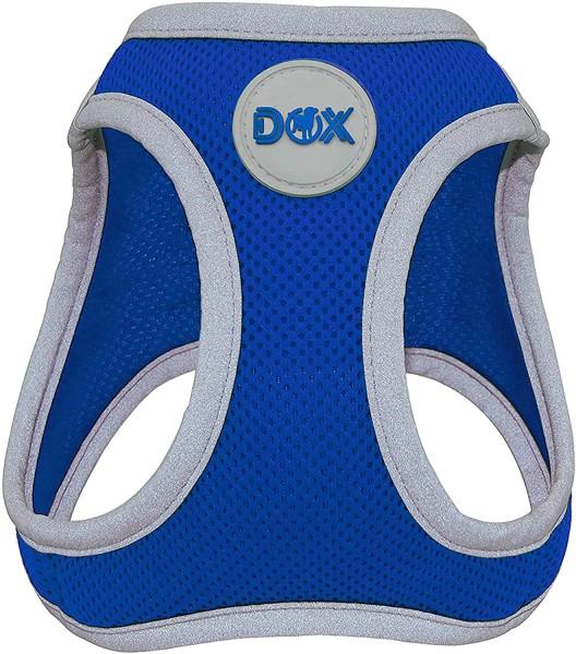 DDOXX Hundegeschirr Air Mesh reflektierend blau Gr. S