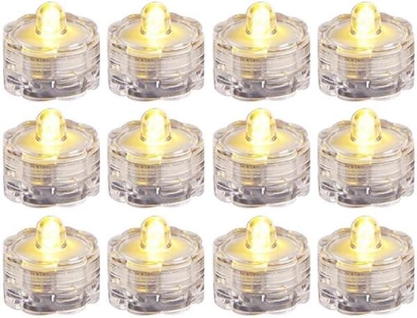 12x Wasserdichtes LED Teelicht Lampe