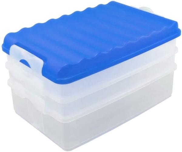 Lunch-Box mit mehreren Fächern blau