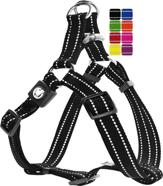 DDOXX Hundegeschirr Nylon reflektierend schwarz Gr. XS