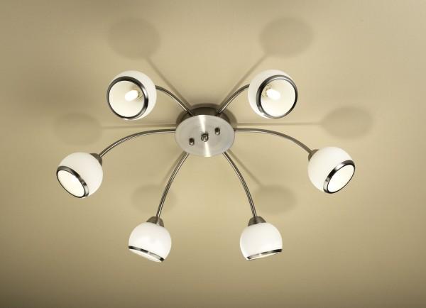LED Deckenleuchte 6-flammig chrom