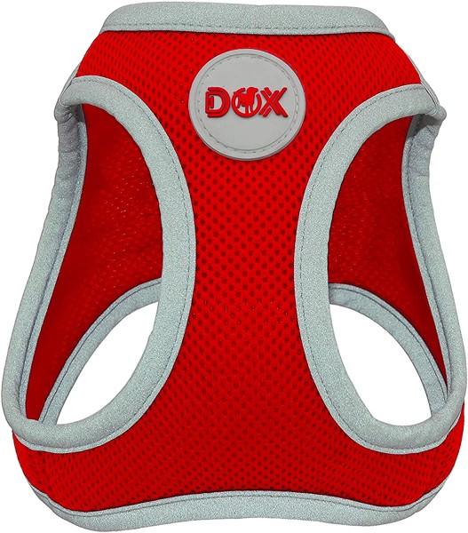 DDOXX Hundegeschirr Air Mesh reflektierend rot Gr. XL