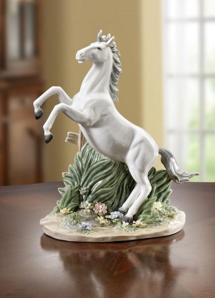 Skulptur Pferd weiß Porzellan