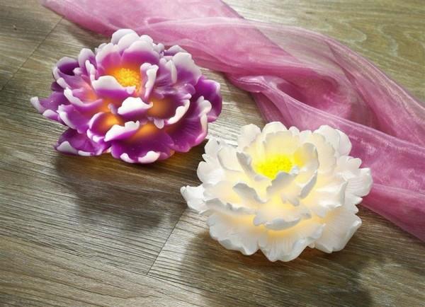 LED Chrysantheme Tischedeko