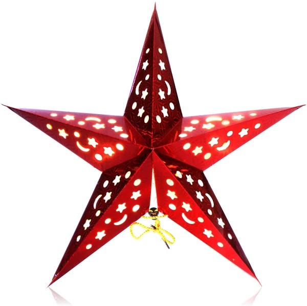 Leuchtstern 3D Rot