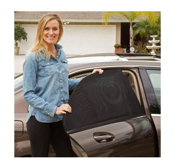 Auto Fenster Sonnenschutz schwarz 2er Set