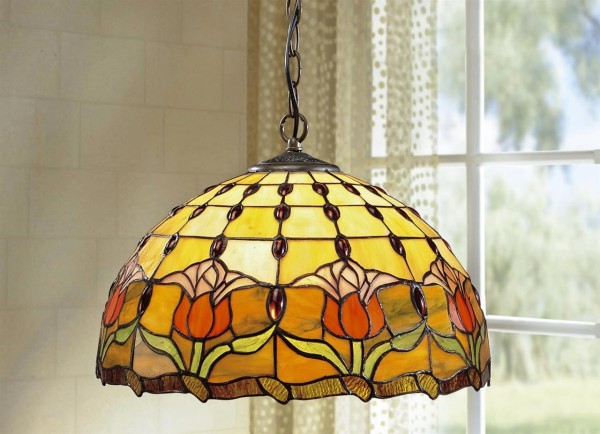Tiffany-Optik Pendellampe Glas    14281