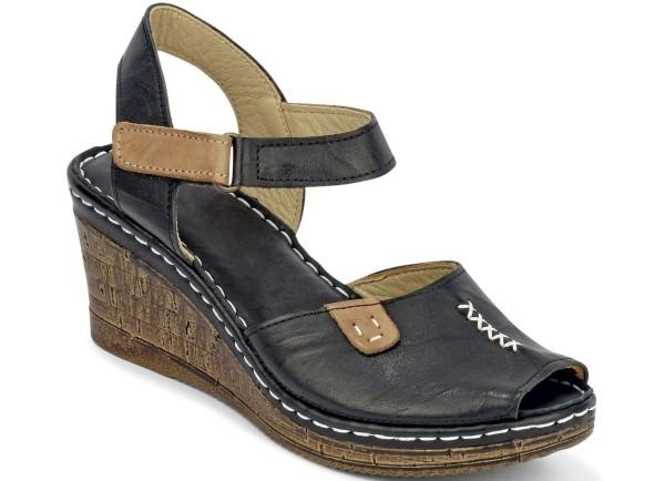 Gemini Damen Sandalette Schwarz Gr. 38
