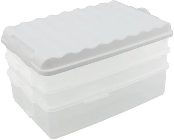 Lunch-Box mit mehreren Fächern weiß