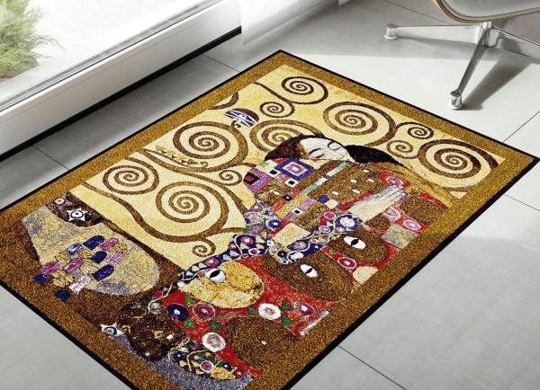 """Schmutzmatte """"Die Erfüllung 75x190cm von Gustav Klimt"""