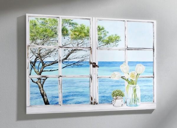 Wandbild Fensterblick Mediterranée von Remy Dellal