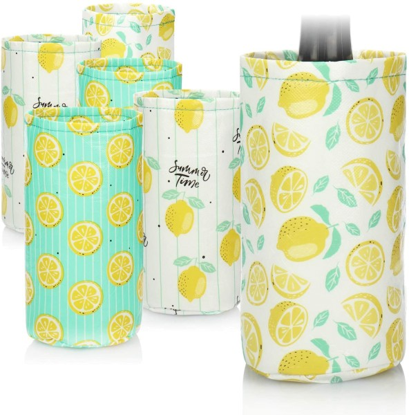 6x Flaschenkühler Kühlmanschetten Zitrone