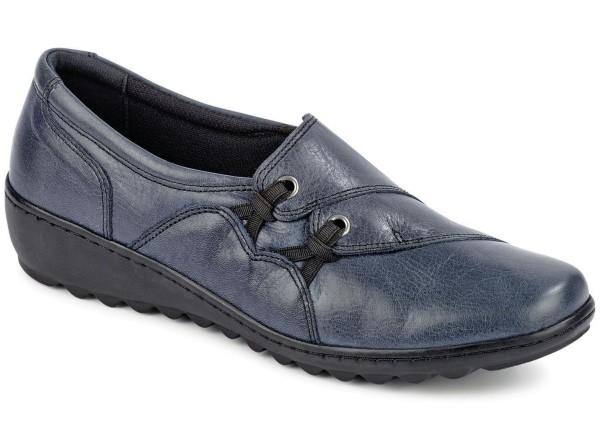 Gemini Damen Lederslipper Jeansblau Gr. 42