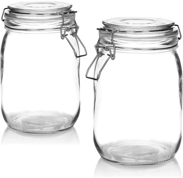 2x Einmachglas mit Bügelverschluss 750ml