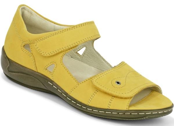 Waldläufer Damen Sandalette Gelb Gr. 36,5