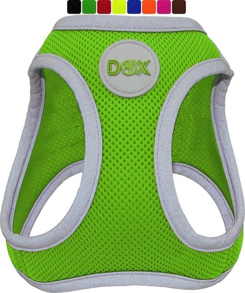 DDOXX Hundegeschirr Air Mesh reflektierend grün Gr. S