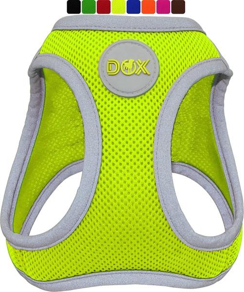 DDOXX Hundegeschirr Air Mesh reflektierend gelb Gr. S