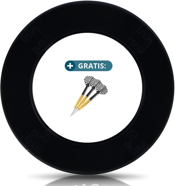 ProDarts Wandschutz Schwarz 4tlg.