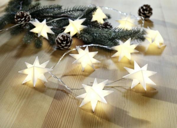 Lichterkette Sterne weiss