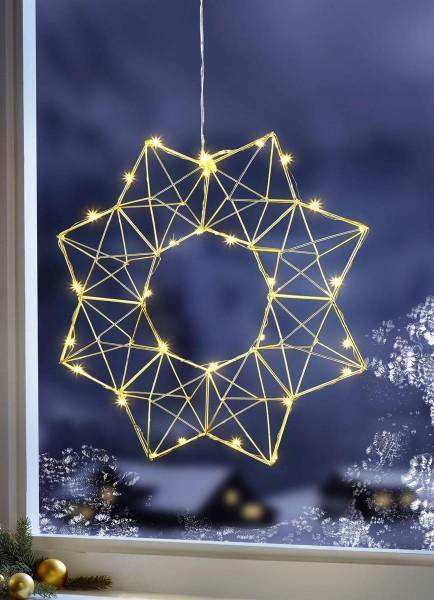 LED Drahtstern Edge LED 40cm Star Trading