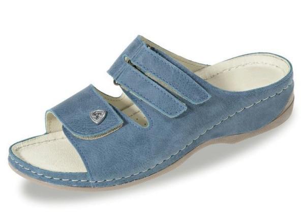 Dr. Feet Pantolette Jeansfarben Gr. 39