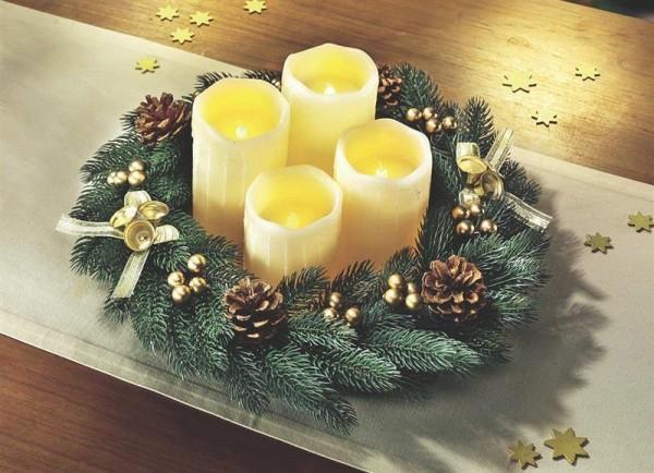 Adventskranz mit LED Kerzen