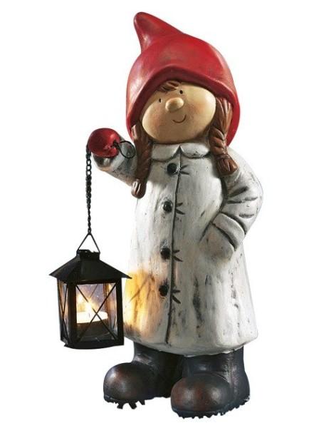 Starke Wintermädchen mit Laterne     04726 + 38703