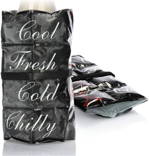 2x Flaschenkühler Kühlmanschetten schwarz