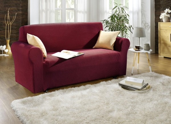 Sofabezug 3-Sitzer Bordeaux