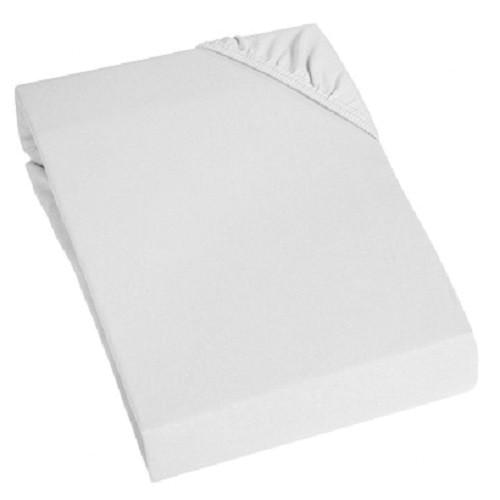 Spannbetttuch Elasthan Jersey Weiß 140-160x200cm
