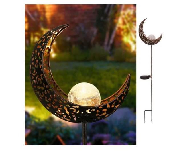 Solarleuchte Mond Gartendeko