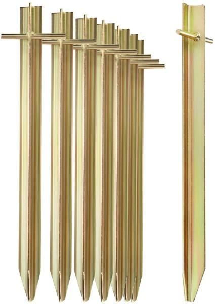 8x Zeltheringe aus Stahl 30cm