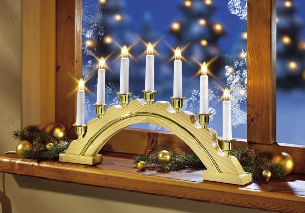Star Trading Celine Kerzenleuchte 7-flam natur Schwibbogen Lichterbogen