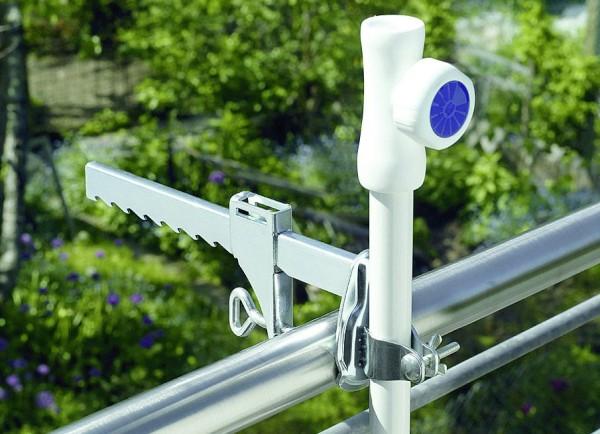 Sonnenschirmhalter Weiß Balkonklammer