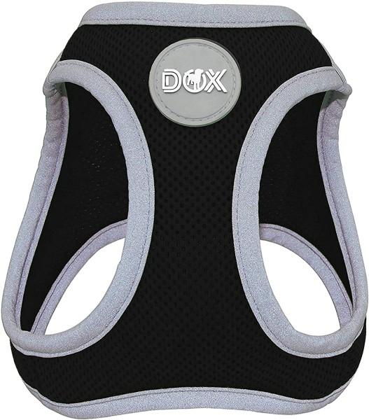 DDOXX Hundegeschirr Air Mesh reflektierend schwarz Gr. M