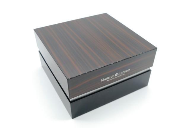 Maurice Lacroix Uhrenbox Holzoptik glänzend