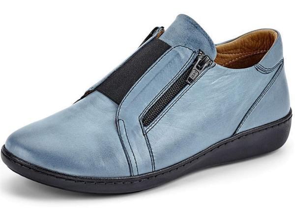 Gemini Damen Slipper Blau Gr. 41