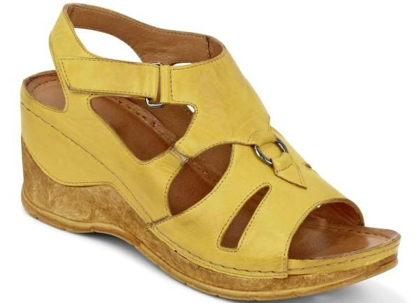 Gemini Damen Sandalette Gelb Gr. 42