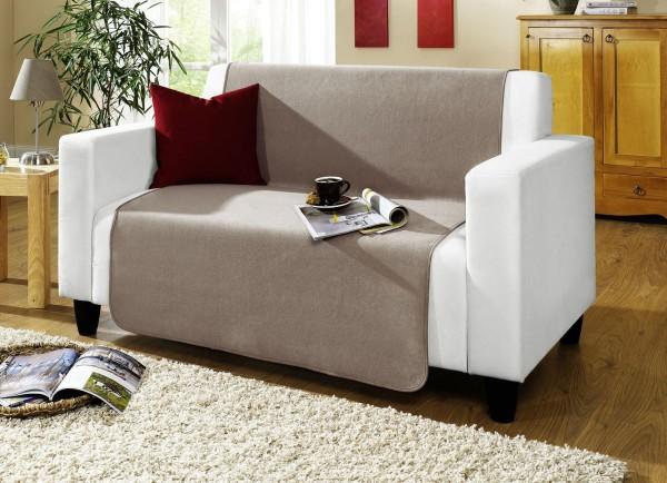 Couchschoner Taupe 100x200