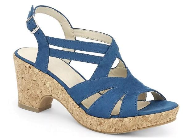 Andrea Conti Damen Sandalette Blau Gr. 39