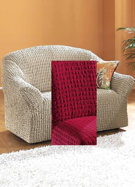 Sofabezug Stretchbezug Eckbezug 3-Sitzer Bordeaux