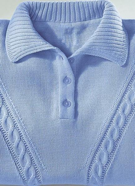 Damen Pullover Zopfmuster Blau Gr. 48 26559-048