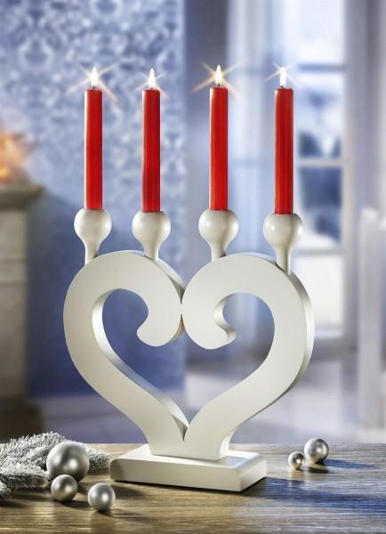Kerzenhalter Herz 4-flammig