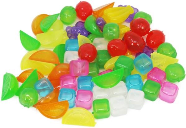 72x Wiederverwendbare Eiswürfel Früchte